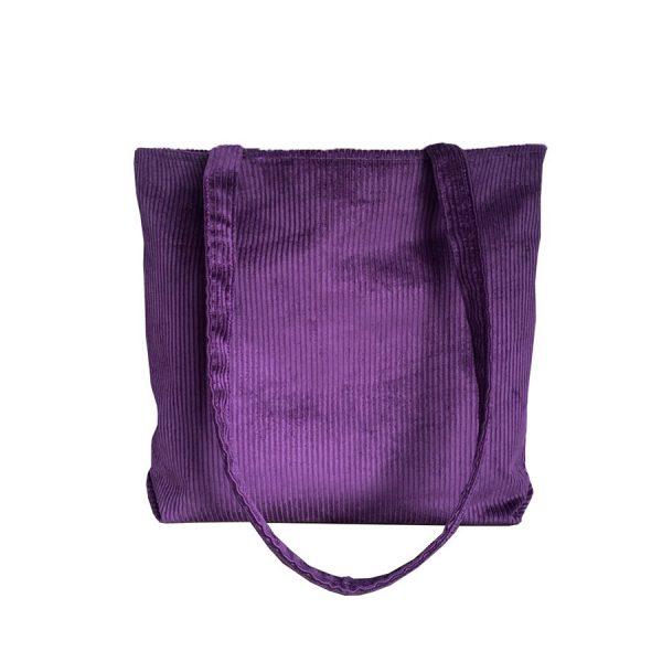 Parabola Designs Corduroy Tote Purple